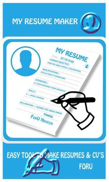 my resume maker apk screenshot