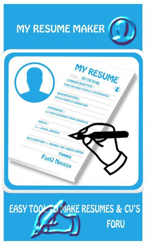 My Resume Maker Apk Download Free Tools App For Android Apkpure Com