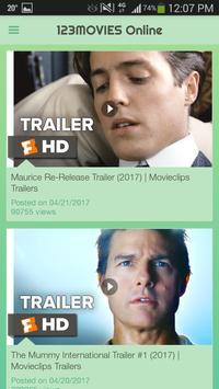 Movies123 online apk screenshot