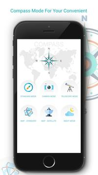 Compass with Maps & Direction poster
