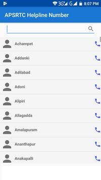 APSRTC Helpline Number apk screenshot
