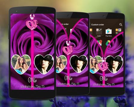 LavenderBlue Zipper LockScreen poster