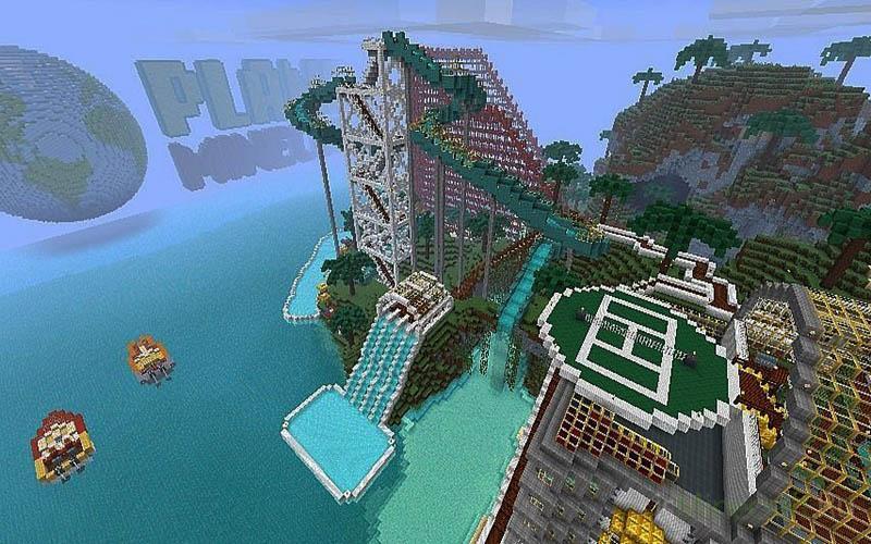 карта аквапарк для майнкрафт играть