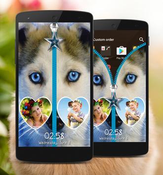 Puppy Zipper Lock Screen apk screenshot