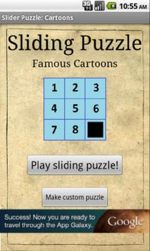 Sliding Puzzle: Cartoons poster