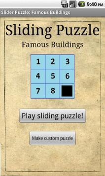 Sliding Puzzle: Buildings poster