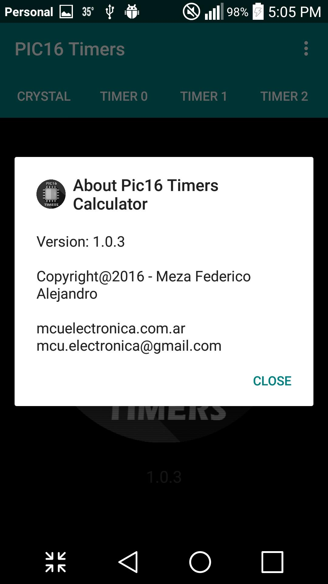 Pic16 Timers Calculator cho Android - Tải về APK