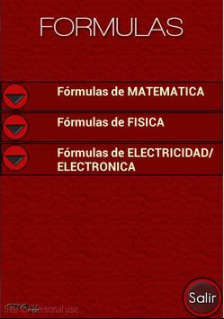 Formulas poster