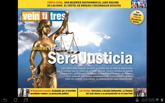 Revista Veintitres poster