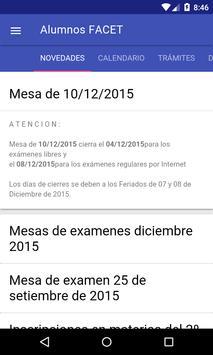Alumnos FACET UNT apk screenshot