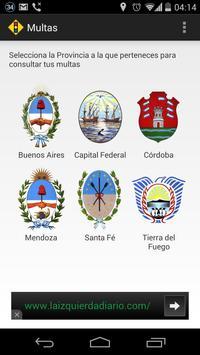 Multas de Tránsito - Argentina screenshot 1