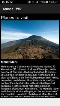 Arusha - Wiki screenshot 4