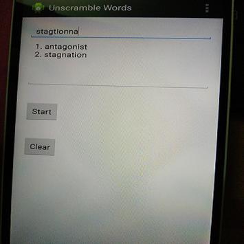 Unscramble Words apk screenshot