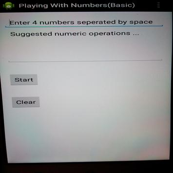 Playing With Numbers (Basic) apk screenshot