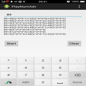 Playing with numbers(Advanced) apk screenshot