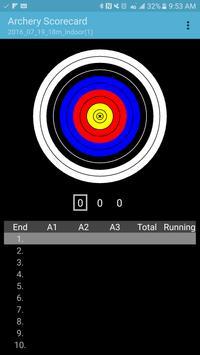Archery Scorecard poster