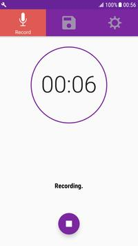 Quick Audio Recorder On Background & High Quality screenshot 1