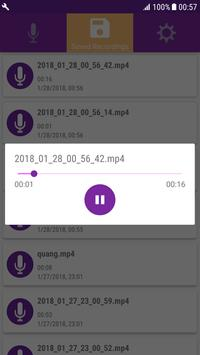 Quick Audio Recorder On Background & High Quality screenshot 3