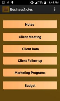 Business Notes poster