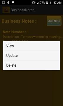 Business Notes apk screenshot