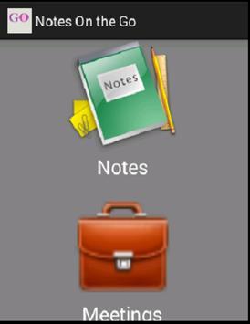 Notes On The Go apk screenshot