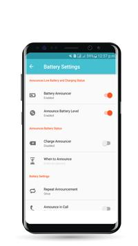 Smart Announcer : Call, Time  & Battery apk screenshot