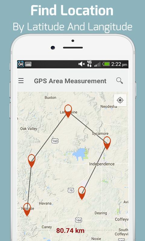 GPS Area Calculator - Geo Map Distance Measurement for