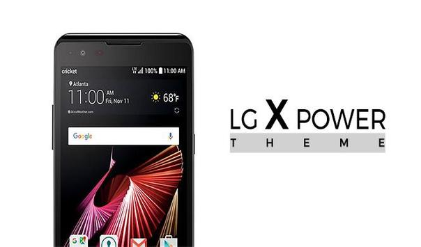 Launcher and Theme LG X power poster