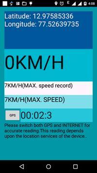GPS SPEEDMETER poster