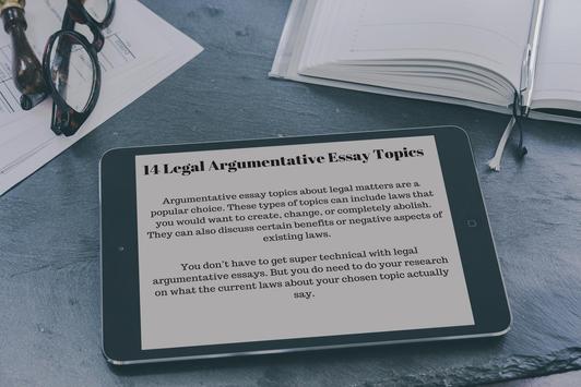 300 Argumentative Essay Topics screenshot 2