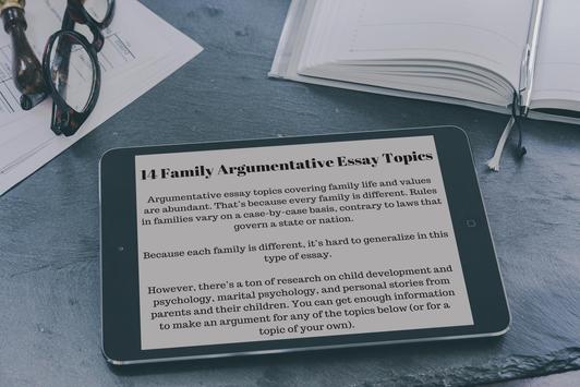 300 Argumentative Essay Topics screenshot 3