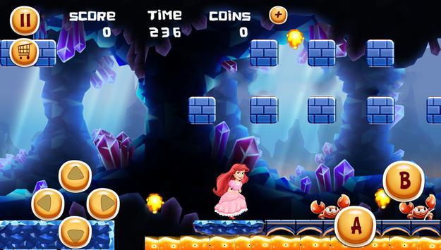 Adventures Ariel Princess Run apk screenshot