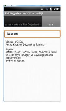 Risk Değerlendirme Yönetmeliği apk screenshot