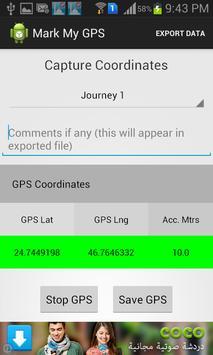 Mark My GPS apk screenshot