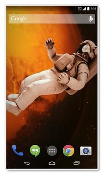 Astronaut Gravity Live Wallpap poster