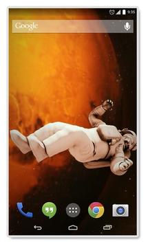 Astronaut Gravity Live Wallpap apk screenshot