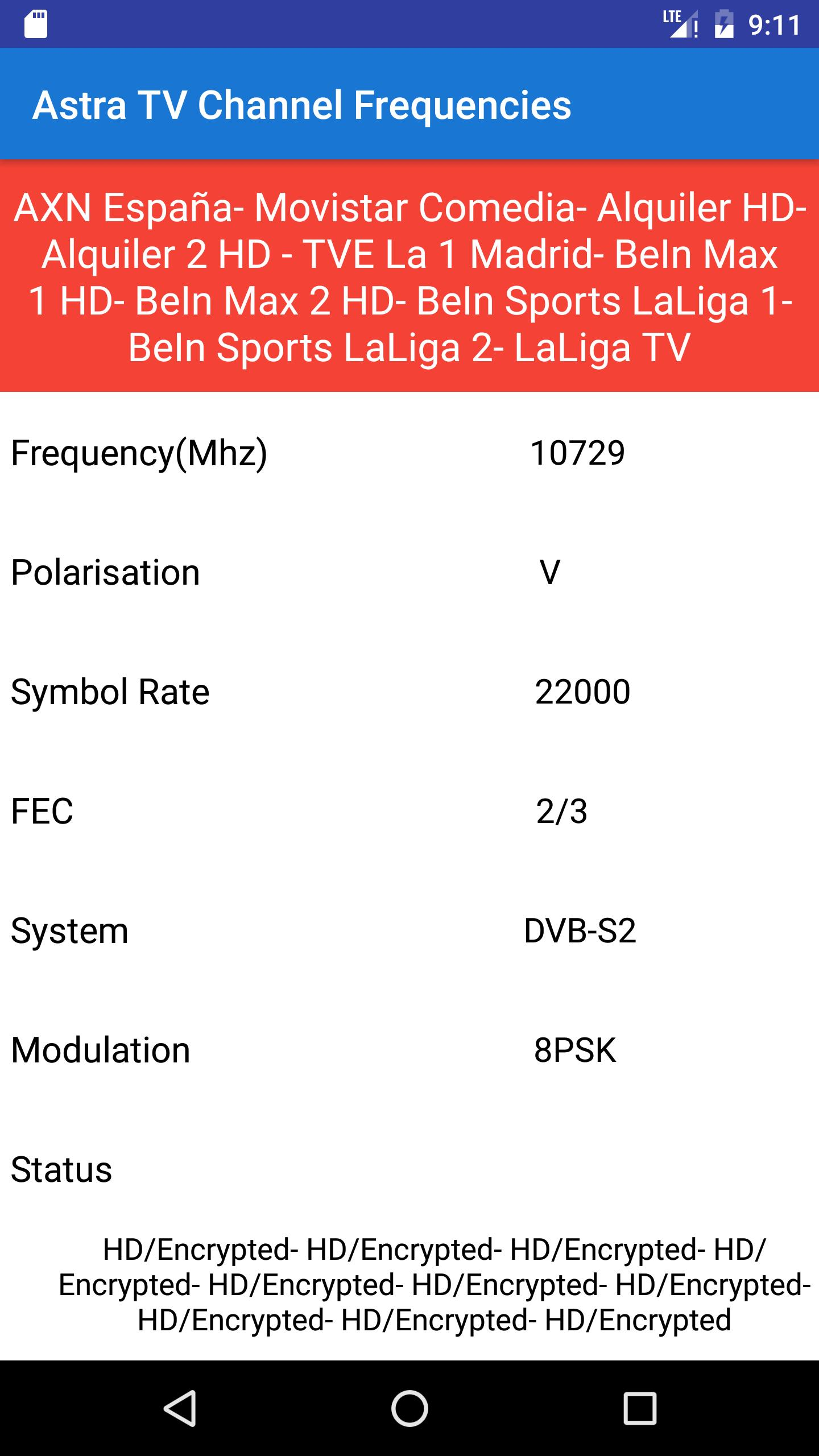 Astra TV Channel Frequencies for Android - APK Download