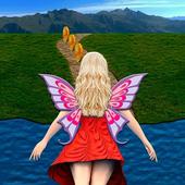 Flying Girl Runner. icon