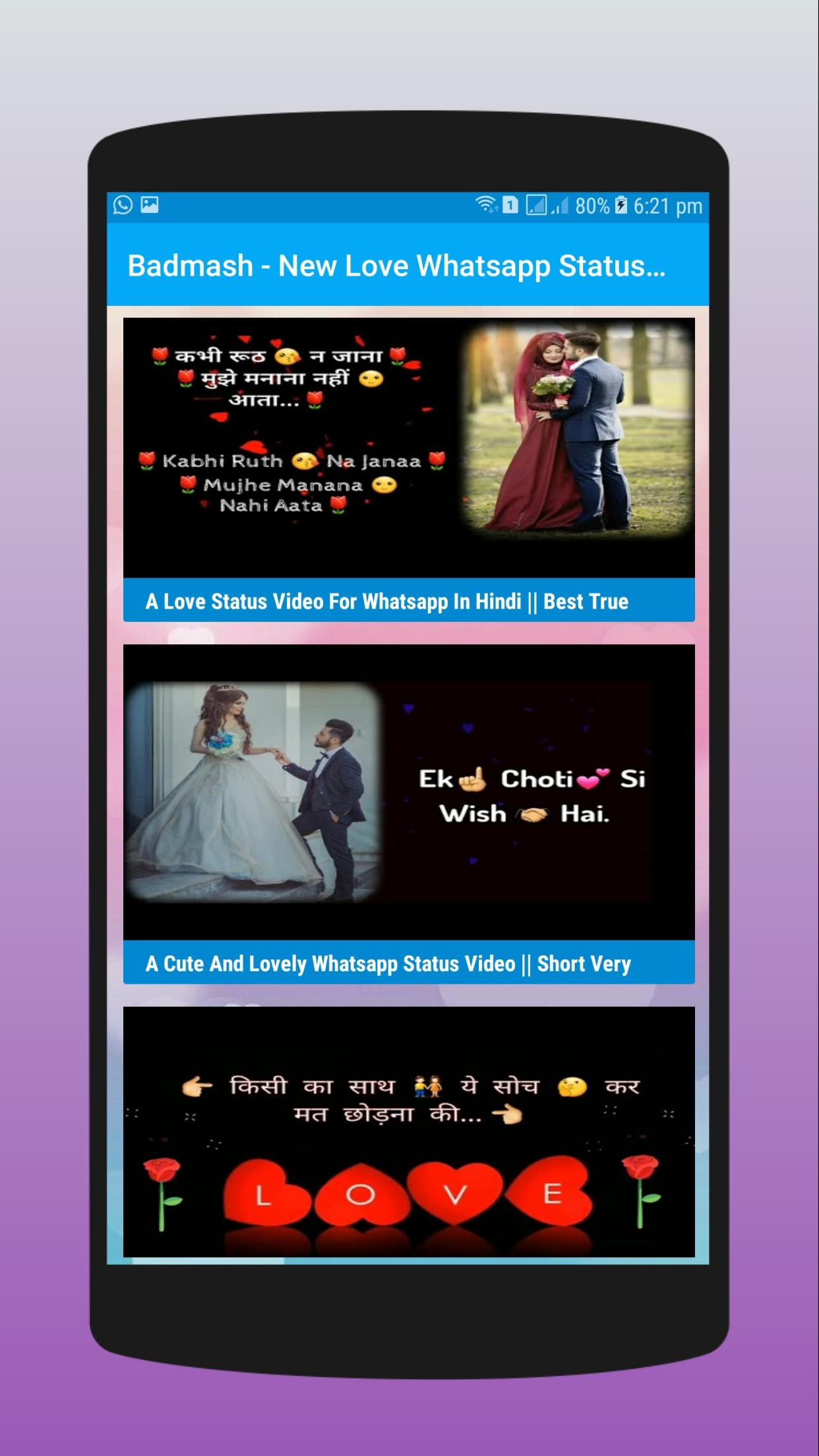 Badmash New Love Whatsapp Status Video And Dp For Android