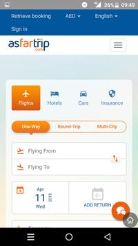 Asfartrip-Flight Hotels Cars Insurance Bookings poster