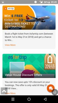 Asfartrip-Flight Hotels Cars Insurance Bookings apk screenshot