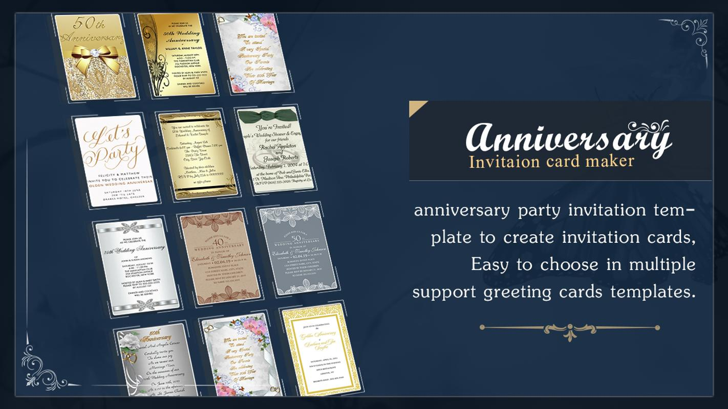 Anniversary invitation card maker for android apk download anniversary invitation card maker stopboris Images