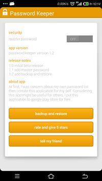 password keeper apk screenshot