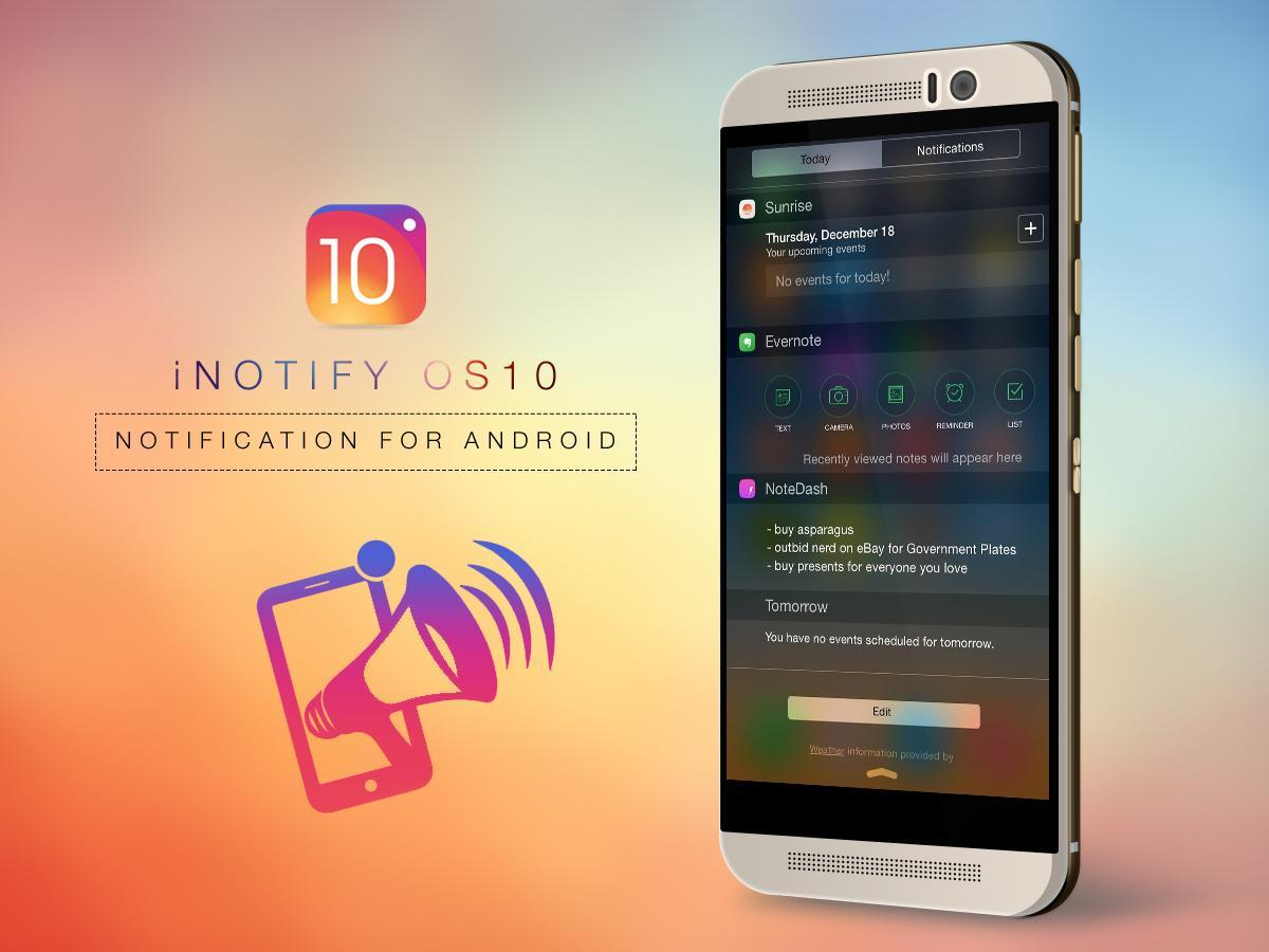 iNotify - Notification OS10 for Android - APK Download