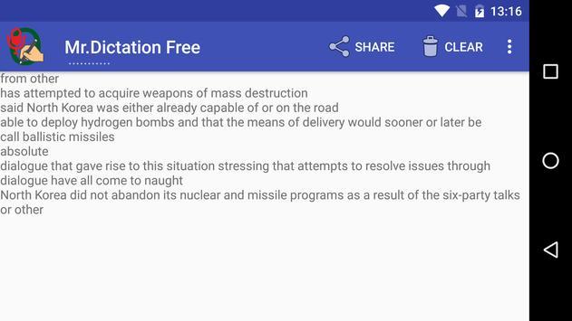 Mr.Dictation Free apk screenshot