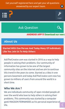 Ask The Creator Lite screenshot 5
