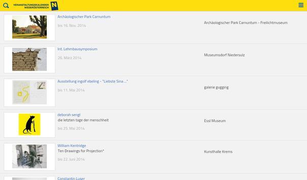 Events Niederösterreich apk screenshot