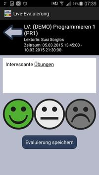 Live-Evaluierung Campus02 poster