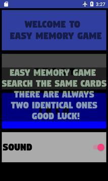 Easy Memory Game screenshot 1