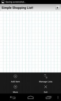 Simple Shopping List apk screenshot